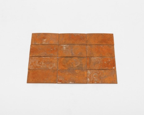 Carl Andre, 12 (4 x 3) Rusty Steel Rectangle, 2014  , Paula Cooper Gallery