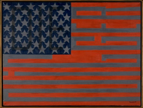 Faith Ringgold, Black Light Series #10 Flag for the Moon: Die Nigger, 1969, Sprüth Magers