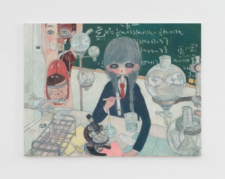 Aya Takano, In the Lab (the Birth of Jelly), 2017, Perrotin