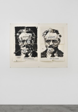 William Kentridge, Trotsky (Love Songs from the Last Century), 2017, Marian Goodman Gallery