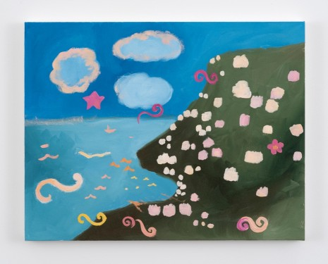 Karen Kilimnik, the pretty sea the pink + cream villas overlooking Torquay, 2016 , Galerie Eva Presenhuber