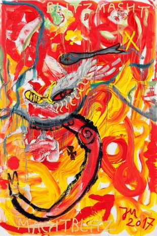 Jonathan Meese, JAWOHL, IM FUZZY BLUTRAUSCH Z.A.R.D.O.Z. DE LARGE..., 2017	, Tim Van Laere Gallery