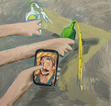Adam Novak, Lotion, Beer, Phone  , 2016, James Cohan Gallery