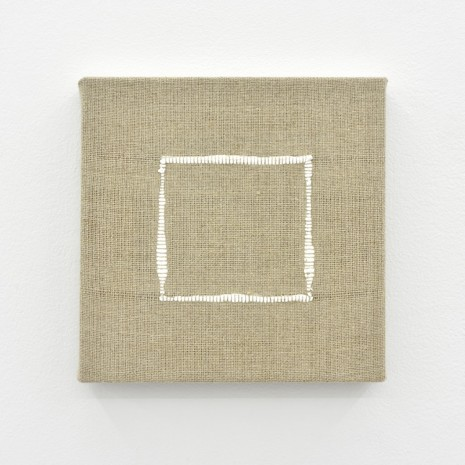 Analia Saban, Composition for Woven Square Outline (White), 2017, Praz-Delavallade