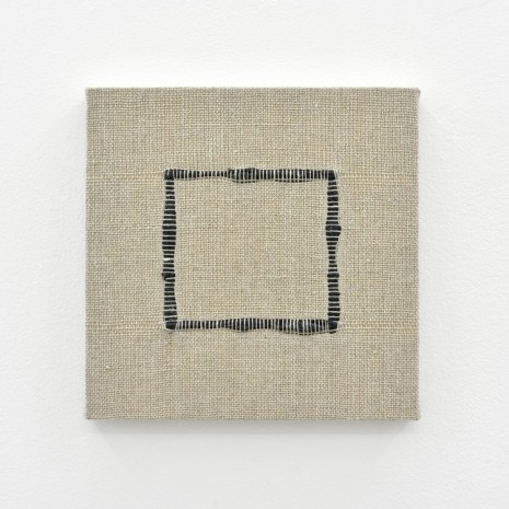 Analia Saban, Composition for Woven Square Outline (Black), 2017, Praz-Delavallade