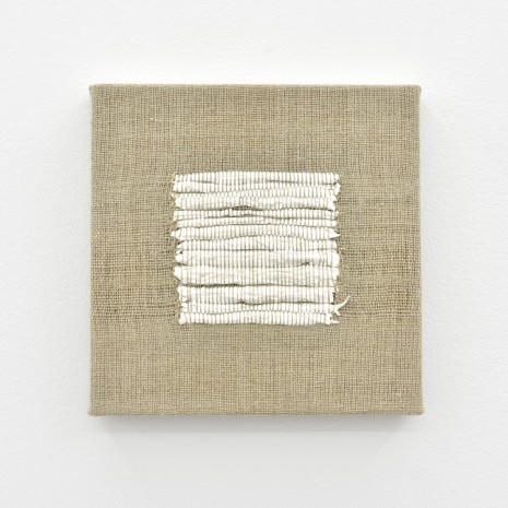 Analia Saban, Composition for Woven Square Solid (White), 2017, Praz-Delavallade