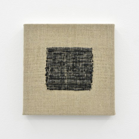 Analia Saban, Composition for Woven Square Solid (Black), 2017, Praz-Delavallade