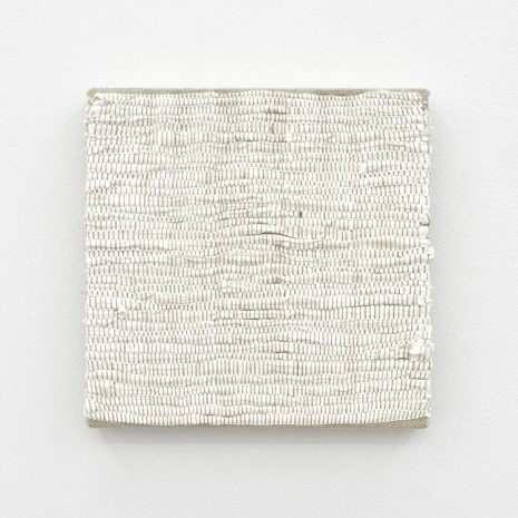 Analia Saban, Composition for Woven Solid (White), 2017, Praz-Delavallade