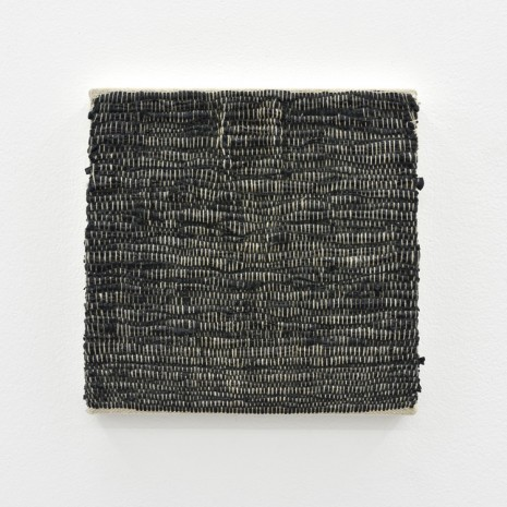 Analia Saban, Composition for Woven Solid (Black), 2017, Praz-Delavallade