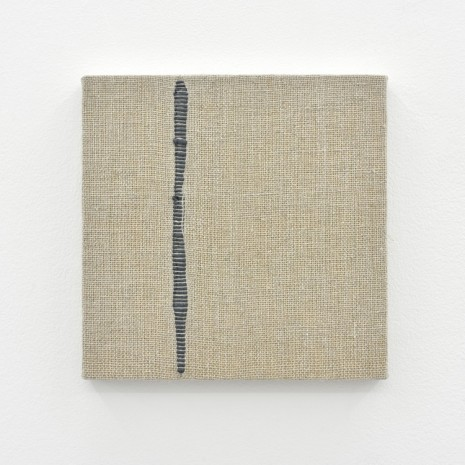 Analia Saban, Composition for Woven Vertical Line (Gray), 2017, Praz-Delavallade