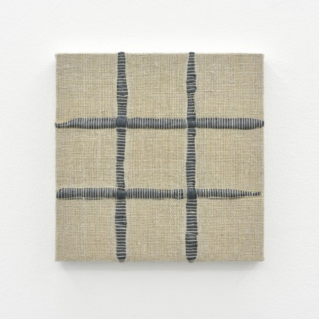 Analia Saban, Composition for Woven 3 x 3 Grid (Gray), 2017, Praz-Delavallade