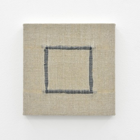 Analia Saban, Composition for Woven Square Outline (Gray), 2017, Praz-Delavallade