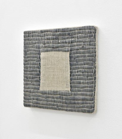 Analia Saban, Composition for Woven Square Negative (Gray), 2017, Praz-Delavallade