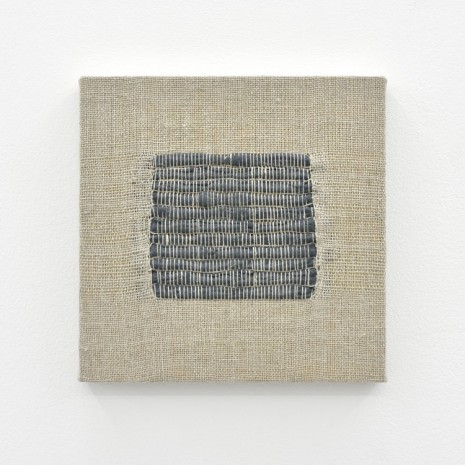 Analia Saban, Composition for Woven Square Solid (Gray), 2017, Praz-Delavallade