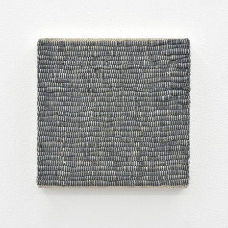 Analia Saban, Composition for Woven Solid (Gray) #2, 2017, Praz-Delavallade