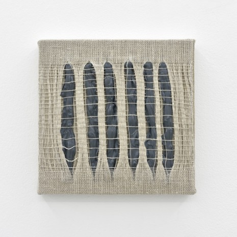 Analia Saban, Weaving Density Study, Stage #1 (Gray), 2017, Praz-Delavallade