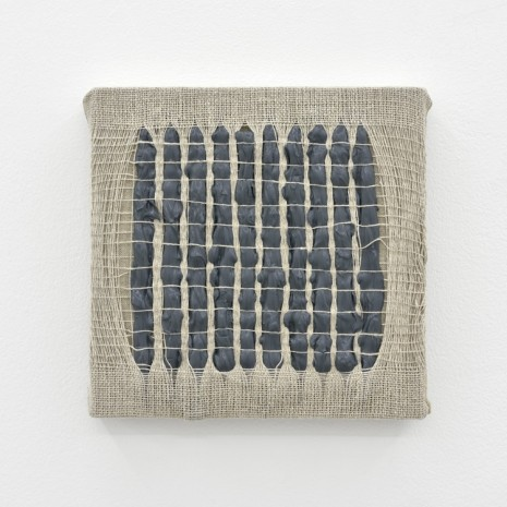 Analia Saban, Weaving Density Study, Stage #2 (Gray) , 2017, Praz-Delavallade