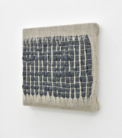 Analia Saban, Weaving Density Study, Stage #3 (Gray), 2017, Praz-Delavallade
