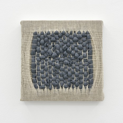 Analia Saban, Weaving Density Study, Stage #4 (Gray), 2017, Praz-Delavallade