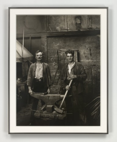 August Sander, Grobschmiede (Blacksmiths), 1926 (printed 1972), Hauser & Wirth