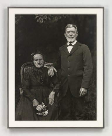 August Sander, Bauernpaar – Zucht und Harmonie (Farming Couple – Propriety and Harmony), 1912 (printed 1972), Hauser & Wirth