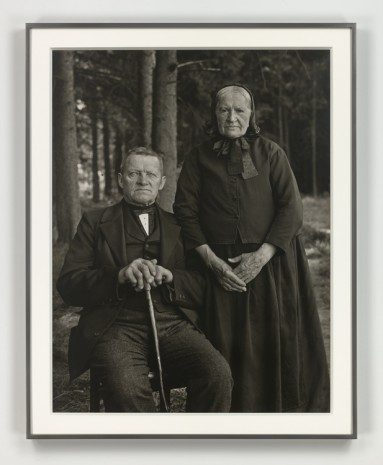 August Sander, Bauernpaar - Zucht und Harmonie (Farming Couple - Propriety and Harmony), 1912 (printed 1972), Hauser & Wirth