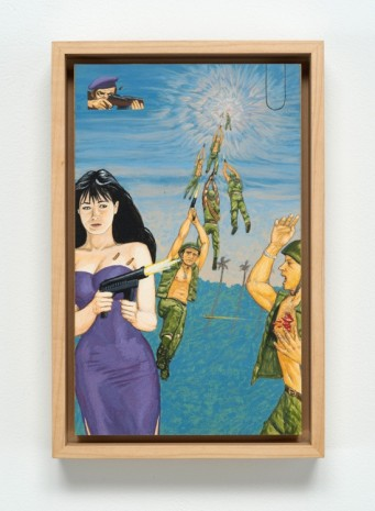 Jim Shaw , Dream Object: Paperback Cover Painting (In Vietnem Shannon Doherty), 1996, Bortolami Gallery