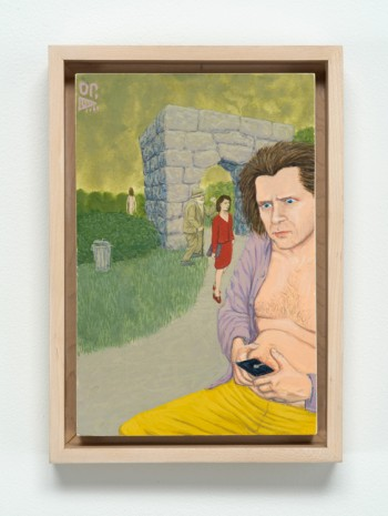 Jim Shaw, Dream Object: Paperback Cover Painting (Jim in the Park), 2001, Bortolami Gallery