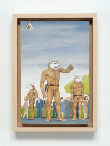Jim Shaw, Dream Object: Paperback Cover Painting (Werewolves), 2001, Bortolami Gallery