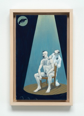 Jim Shaw, Dream Object: Paperback Cover Painting (Man being Shaved), 2001, Bortolami Gallery