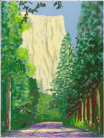 David Hockney, Yosemite II, October 16th 2011, 2011, Galerie Lelong & Co.
