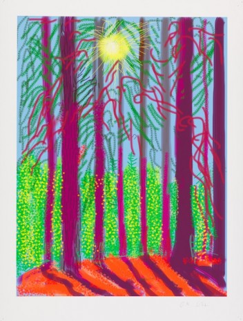 David Hockney, The Yosemite Suite No.4, 2010, Galerie Lelong & Co.