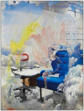 Urs Fischer, Blue Chair, 2017 , Gagosian