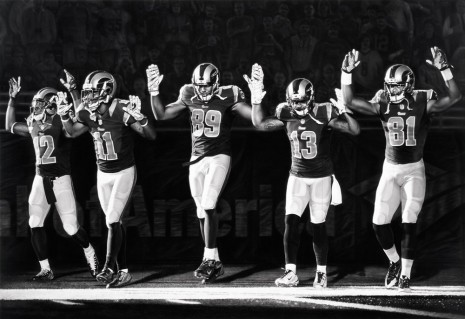 Robert Longo, Untitled (St. Louis Rams, Hands Up), 2016, Metro Pictures