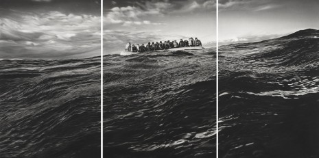 Robert Longo, Untitled (Raft at Sea), 2016 - 2017, Metro Pictures