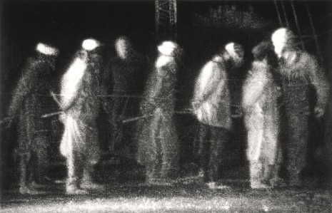 Robert Longo, Untitled (Prisoners, Kandahar Airport), 2016, Metro Pictures