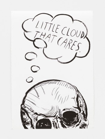 Raymond Pettibon, No Title (Little cloud that…), 2017 , David Zwirner