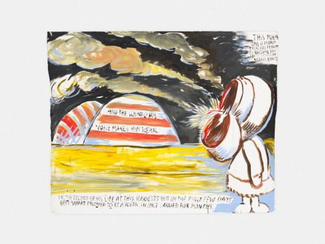 Raymond Pettibon, No Title (And the sound…), 2017 , David Zwirner