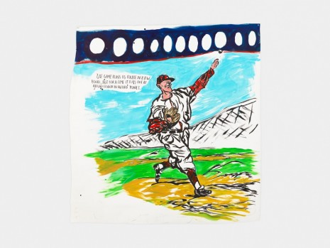 Raymond Pettibon, No Title (The game runs…), 2017 , David Zwirner