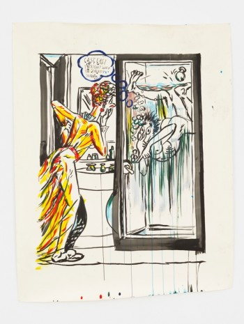 Raymond Pettibon, No Title (Cast east thought…), 2017 , David Zwirner