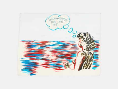 Raymond Pettibon, No Title (And agaiyn, keeping…), 2017 , David Zwirner