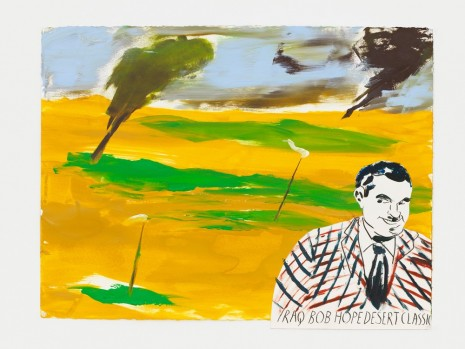 Raymond Pettibon, No Title (Iraq Bob Hope…), 2017 , David Zwirner