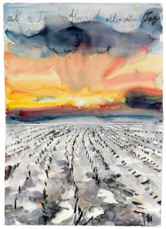 Anselm Kiefer, aller Tage Abend, aller Abende Tag (The Evening of All Days, the Day of All Evenings), 2014, Gagosian