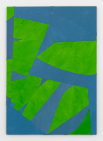 Sarah Crowner, Sliced Seeds, Green and Blue, 2017 , Simon Lee Gallery