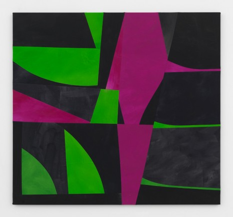Sarah Crowner, Sliced Green and Violet Weeds (after HM), 2017 , Simon Lee Gallery