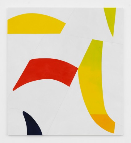 Sarah Crowner, Sliced Yellow, Red, Indigo, 2017 , Simon Lee Gallery