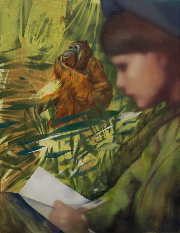 Paulina Olowska, Birutė Galdikas reading to Georgina in Borneo Jungle, 2017 , Simon Lee Gallery