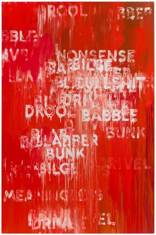Mel Bochner, Drool, 2016 , Peter Freeman, Inc.