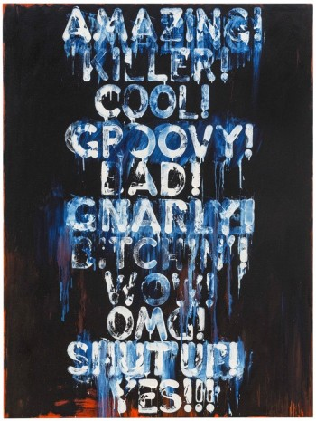 Mel Bochner, Amazing, 2015 , Peter Freeman, Inc.