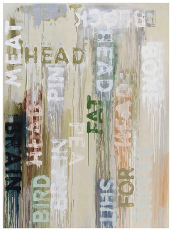 Mel Bochner, Block Head, 2016, Peter Freeman, Inc.